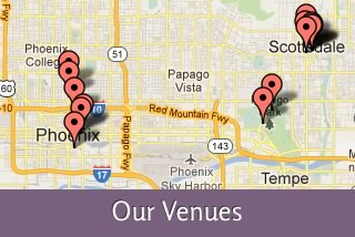 Where to Find Us - Our Venues