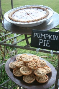 Pumpkin Pie and Individual Apple Pies