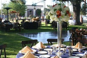 Vintage Inspired Guest Table Centerpieces